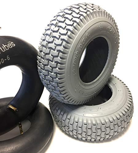 Impac silla 2neumáticos, 13x 5.00–6, Gris + 2unidades Manguera, neumáticos kräftiges bloque...