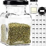 GIESSLE 30 Vorratsgläser für Kräuter je 150ml kleine Vorratsbehälter aus Glas Aufbewahrungsglas Kräuterglas