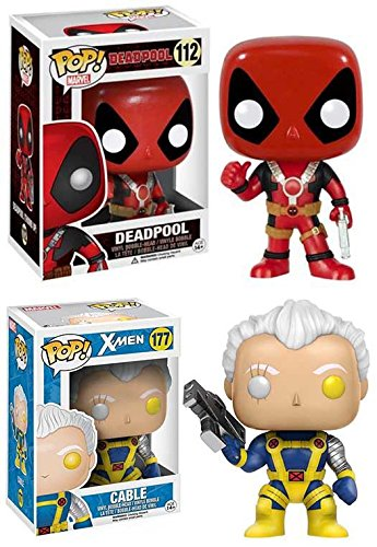 Funko Pop! Marvel: Deadpool (with Swords) + Cable – Vinyl