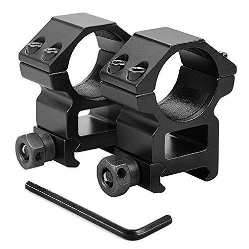 KINSUNG Anelli di Montaggio | per 20mm Rail Prisma | Diametro: 25,4mm | Coppia Montaggi per Mirino, Cannocchiale Ottica