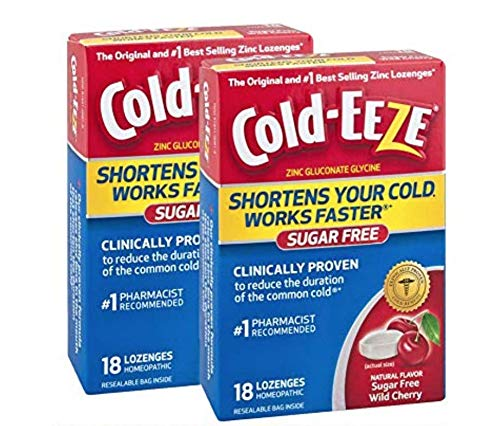 Cold-Eeze Sugar Free Cherry lozenges Twin Pack, 18 Count