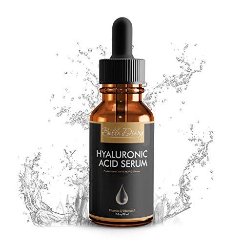 Serum de �cido Hialurónico 1oz - Crema Orgánica Hidratante Facial Antienvejecimiento con Vitamina C y Vitamina E para Piel Seca, Líneas Finas y Arrugas