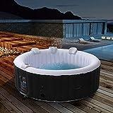 Arebos - Bañera de hidromasaje hinchable para exteriores - 6 personas - Redondo - 1000 litros - Piscina spa - Masaje,...