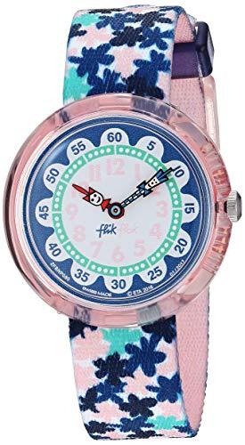 Flik Flak Mädchen Analog Quarz Uhr mit Stoff Armband FBNP080