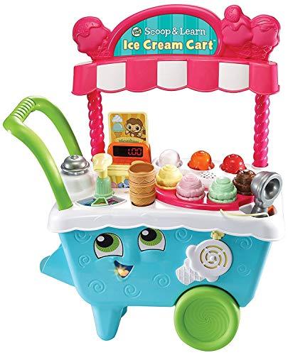 Mi primer juego de helado. Conoce a tu carrito local de helados listo para entregar deliciosos dulces y habilidades preescolares - mira a tus hijos reír mientras aprenden sobre colores, números, memoria y juego. Fomenta el juego imaginativo y la crea...