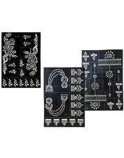 3 sheets tattoo sjablonen henna ontwerpen voor lichaamsbeschildering Nelle 3