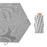 JUNDY Faltbarer Kompakt Taschengröße Sonnenschirm Regenschirme Sonnenschirm aus schwarzem Kunststoff 50% Regenschirm UV-Schutz Farbe2 91cm