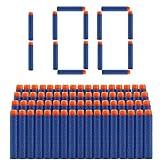 welltop 100 Piezas de Recarga Bullet Foam Darts Ammo Pack para Nerf N-Strike Elite Series Blasters...