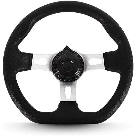 UXELY Go Kart Steering Wheel Butterfly Shape Riding Control Part Universal Steering Wheel Iron Black