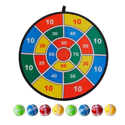 Ruidada Kids Indoor Outdoor Sports Toys Juegos sociales para Padres y niños Juego de Dardos Deportivos para niños 8 Bolas con Cubierta de Velcro Mejorada