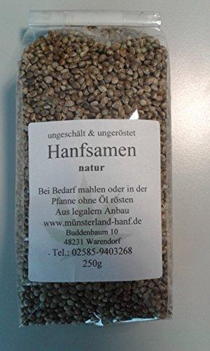 Hanfsamen Natur 250g bei uns auch Tee u.a. erhältlich