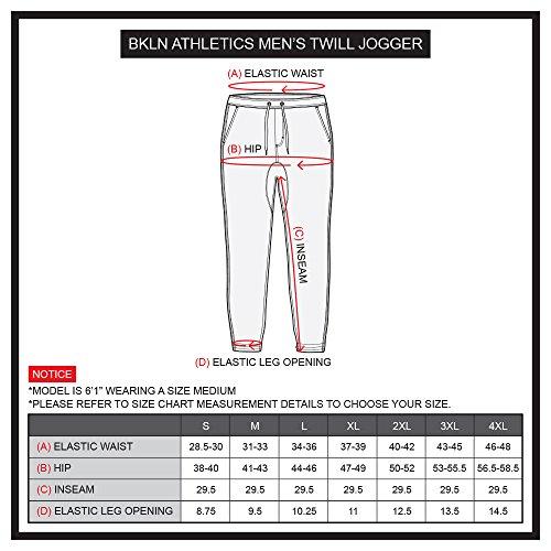 Brooklyn Athletics Men's Casual Regular Fit Soft Twill Jogger Pants, Tobacco, Medium