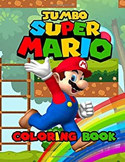 Super Mario JUMBO Coloring Book: Great Coloring Book For Kids - OVER 122 PAGES