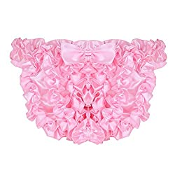 Mens ruffled crossdress panties in pink satin.