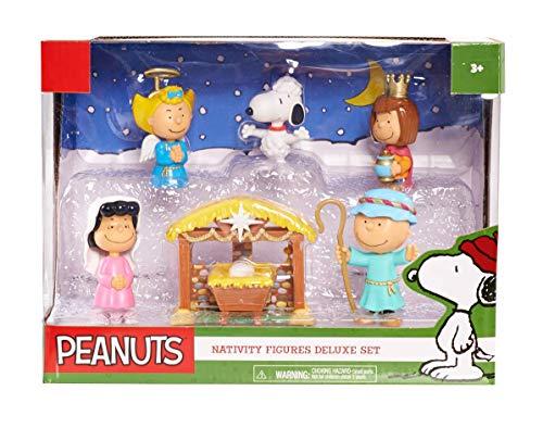 Peanuts Christmas Nativity Deluxe Figure Set Multi-color, 3 inches