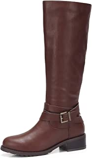 Women's Faxu Suede Knee High Slouch Boots Wide Calf Low...