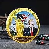 Yuanan Donald Trump 45th presidente moneda conmemorativa de los Estados Unidos hace que el estadounidense sea grande otra vez