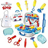 Mgc-Kitty 26 Pcs Doctor Kit for Kids, Pretend Role Play Kids Doctor Playset Medical Kit with Storage Box, Educational Toys Gift for 3 Years Old and Up