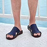 NISHIWOD Zapatillas Casa Chanclas Sandalias Zapatos Zapatillas De Hombre Sandalias De Playa Sandalias De Hombre De Moda Sandalias De Cuero Zapatos Casuales Chanclas 8.5 Blue36