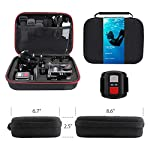VanTop Moment 3 4K Action Camera w/Gopro Compatible Carrying Case,Remote Control,16MP Sony Sensor,30M Waterproof Camera… 11 【Stunning 4K Technique & Superb Sony Sensor】Optional 4K@30fps, 2.7K@30fps,1080P@60fps,720P@120fps resolutions, high sensitive Sony sensor with improved image focusing, processing speeds. Moment 3 action camera empowers you to capture any memorable moment without any compromise. Stunning 4K video and 16MP photos in Single, Burst and Time Lapse modes. 【Irresistible & Indispensable Accessories】Exclusively customized carrying case for the action camera and accessories: compatible with all Gopro cameras including Gopro HERO 7, Gopro HERO 6. Compact case to keep your action camera-Moment3 and accessories safe, protected and organized. Selected 21 gopro compatible accessories awaits your discovery. (SD Card excluded) 【170°Ultra-Wide Lens & Multiple Modes】Discover a big big world your eyes can reach with the intergraded 170 degrees ultra-wide lens. Burst Shooting, loop recording makes it possible to find the perfect moment afterwards. Time-lapse and slow motion exceed human vision with surprising fun.