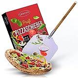 LIONVINE Profi – Pizzaschieber–Pizzaschaufel aus Aluminium mit großer Fläche 30,5x30,5cm–Mit demontierbarem Griff–Mit praktischer Hängeöse–Extra lang [85cm]