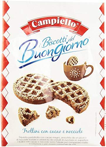 3x Campiello Biscotti del Buongiorno Frollini con cacao e nocciole Shortbread mit Kakao und Haselnüssen 700g biscuits cookies 100% Italienische Kekse