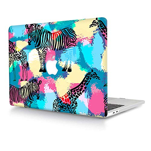 ACJYX Compatible with MacBook Pro 15 inch Case 2019 2018 2017 2016 Release A1990 A1707, Matte Hard Plastic Shell Cover for MacBook Pro 15 with Touch Bar/ID - Zebra