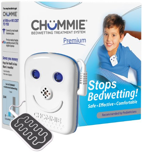 bedwetting alarms Chummie Premium Bedwetting Alarm for Deep Sleepers - Award Winning, Clinically Proven System with Loud Sounds, Bright Lights and Strong Vibrations, Blue (TC300B)