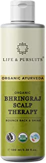 Life & Pursuits USDA Organic Hair Growth Oil With Bhringraj, Amla, Coconut Oil & Castor Oil For Ayurvedic dry Scalp Therapy (100 ml/3.38 fl oz)