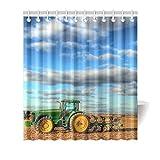 ColdplayYe-ho QQQ Fantasy Farm Tractor Shower Curtain 100% Polyester Fabric Waterproof 66 x 72