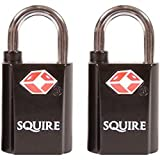 Squire - Paquete de 2 tecleé cerraduras maleta de equipaje por igual.