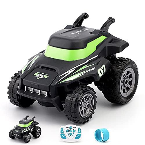 Nsddm 180 ° Flip Stunt RC Car, 2.4 g de Control Remoto eléctrico Coche Monster Traking Truck (conducción Permanente) Vehículo Off-Road, Regalo de Juguete de Navidad para niños y niñas,
