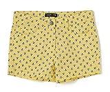 TEX - Pantalón Corto Estampado de Niña, Amarillo Plátano, 2-3 años