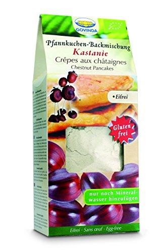 Govinda Kastanien-Pfannkuchenmix, 2er Pack (2 x 350 g Karton) - Bio