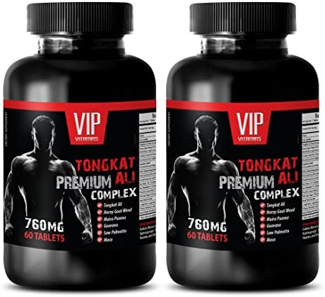 Muscle Growth Supplements TONGKAT ALI Premium Complex 760MG Longjack Root Extract 2 Bottle 120 product image