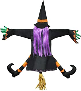 JOYIN Crashing Witch into Tree Halloween Decoration