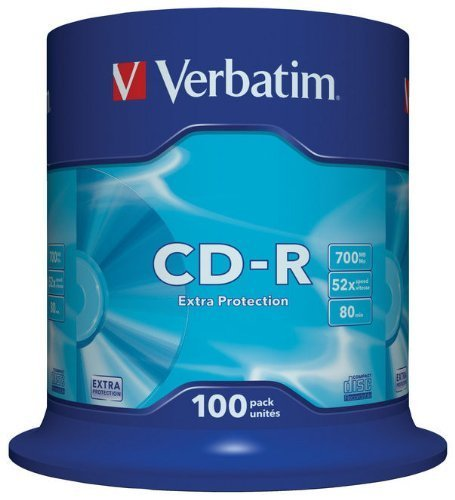 Verbatim CD-R 80Mn 52x Pack de 100