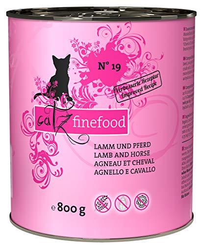 catz finefood N° 19 Lamm & Pferd Feinkost Katzenfutter nass, verfeinert mit Zucchini & Tomate, 6 x 800g Dosen