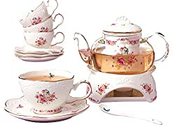 Teapot and teacups for afternoon tea.