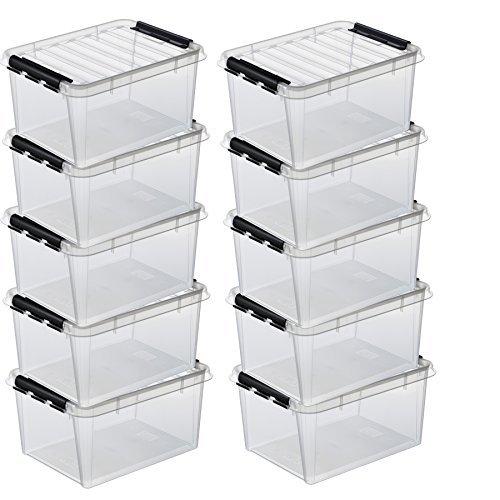 10 x HAMMARPLAST SmartStore Classic 15 Box - 14 Liter - 400 x 300 x 190mm - transparent