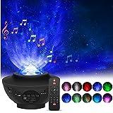 Projecteur Ciel Étoilé, Qxmcov Projecteur LED Étoilé de Veilleuse Rotatif avec 21 Modes&Télécommande&Timer&Enceinte& Bluetooth, Projecteur Galaxie pour les fêtes de Noël, de pâques ou d'Halloween