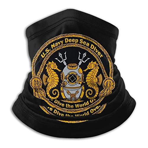 Navy Deep Sea Diver Emblem Unisex Neck Gaiter Mask Bandana Headwear Balaclava Magic Scarf