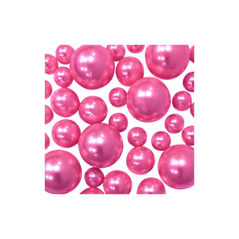 silk flower arrangements hot pink pearls - no hole jumbo & assorted sizes pearls vase fillers for centerpiece decorations - to float pearls order the transparent water gels