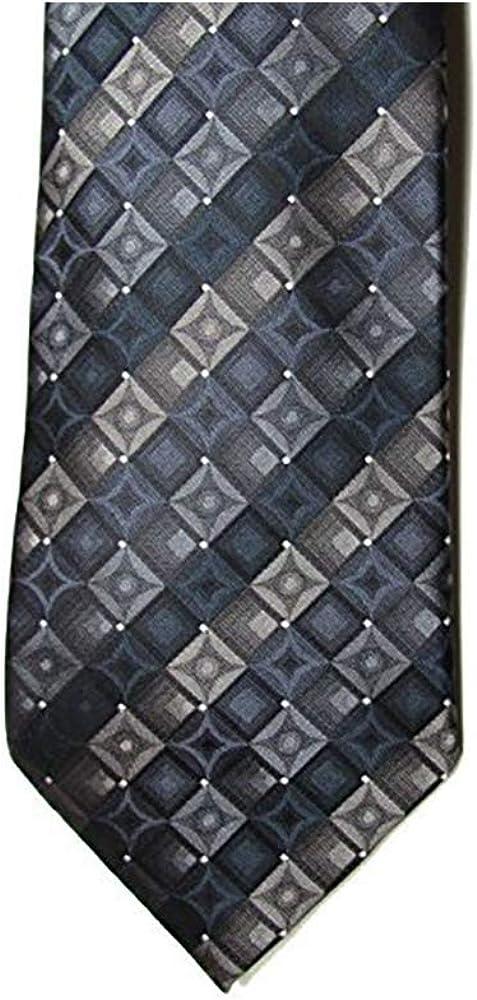 John Ashford Men's Neck Tie, EDI GEO-Q4, Charcoal/Black