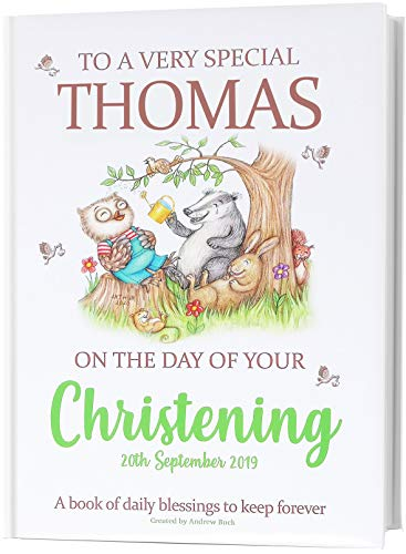 Christening Keepsake Gift for Baby. A Very Special Personalised Book of Daily Blessings