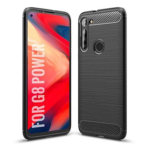 SCL Hülle für Moto G8 Power Hülle Motorola G8 Power Hülle, [Schwarz] Handyhülle Exquisite Serie-Carbon Design Schutzhülle mit Anti-Kratzer & Anti-Stoß Absorbtion Technologie