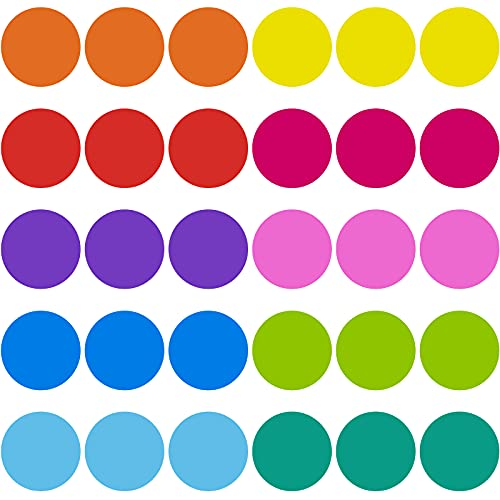 30 Pieces 6 Inch Classroom Floor Dots Floor Stickers Multicolor Classroom Dot Spots for Line up Markers Self Adhesive Vinyl Stickers for Preschool and Kindergarten Elementary Teachers (Chic Color)