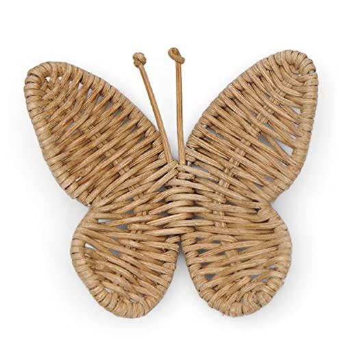 Riviera Maison - Deko-Schmetterling - Rustic Rattan - Peddigrohr - Farbe: Natur - 4 x 9 x 9 cm
