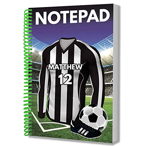 Personalised Gift - Scottish Teams - Football Shirt - A5 Notepad - Notebook - Birthday - Christmas - Stocking Filler - Secret Santa - Any Team Colours (Dunfermline Athletic)