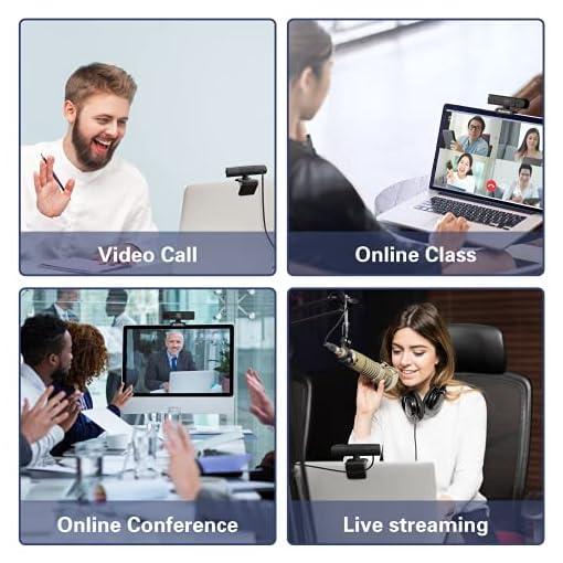 EKACOM Webcam 1080P Full HD con Microfono,Cámara Web con Cubierta de Privacidad ,Usb Web Camera PC Plug y Play para… 7